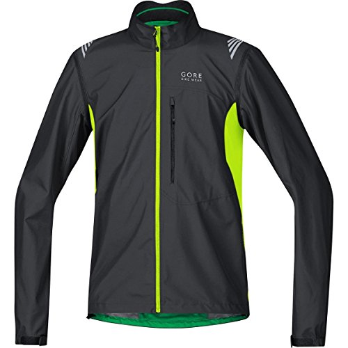 gore bike wear 2 in 1 herren fahrradjacke super leicht kompakt gore windstopper element ws as zip off jacket groesse l schwarzneon gelb jeleco - GORE BIKE WEAR 2 in 1 Herren Fahrradjacke, Super Leicht, Kompakt, GORE WINDSTOPPER, ELEMENT WS AS Zip-Off Jacket, Größe: L, Schwarz/Neon Gelb, JELECO